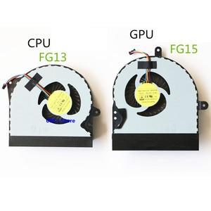 New CPU GPU Cooler Fan/Heatsink For ASUS ROG G751JZ G751 G751JT G751JZ G751JL G751JM G751JY G751M DFS561405PL0T FG15 Radiator(China)