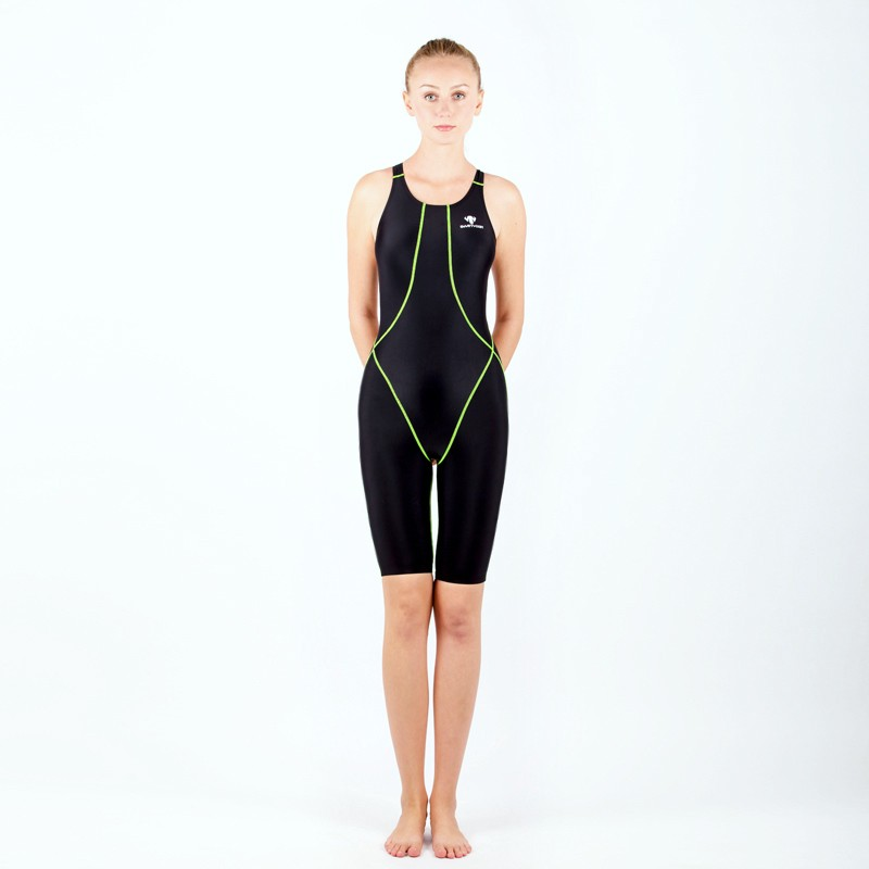 8535ce78ef81a HXBY professional competition knee length waterproof chlorine resistant  women s swimwear sharkskin swimsuit plus size 5xl-in Body Suits from Sports  ...