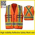 Dos tonos de alta visibilidad chaleco de seguridad reflectante
