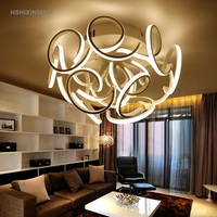 Modern fashion LED bedroom living room study ceiling lamp personalized dimming warm indoor home improvement Ceiling lights