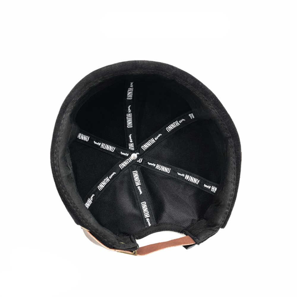 KLV موضة Harajuku للجنسين سروال قصير قابل للتعديل Brimless قبعة الرجال الرجعية Skullcap بحار قبعة الهيب هوب المرأة عادية الفرنسية قبعة