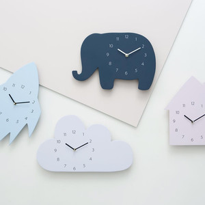 Nordic Style Nursery & Kids Decor Clock Swan Bear Cloud Wall hanging Wood Toys Model Baby Kid Room Furnish Artic Home Decoration(China)