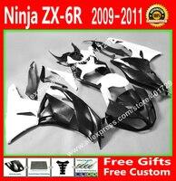 7 подарок обтекатели для мотоцикл Kawasaki 2009 2010 ZX6R запчасти 09 10 11 12 белый черный зализа комплекты FG74