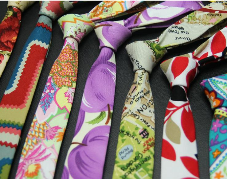 5cm necktie printed tie for font b men b font neckwear skinny floral ties suit font
