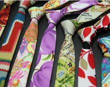5cm necktie printed tie for men neckwear skinny floral ties suit accessories man neck tie hip