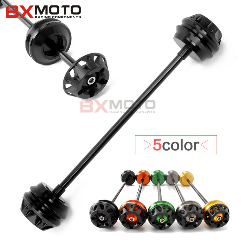 Motorcycle Accessories Protector Motorbike Black Front Axle Slider Frame Sliders Anti Crash Protector For Kawasaki Z800 Z1000