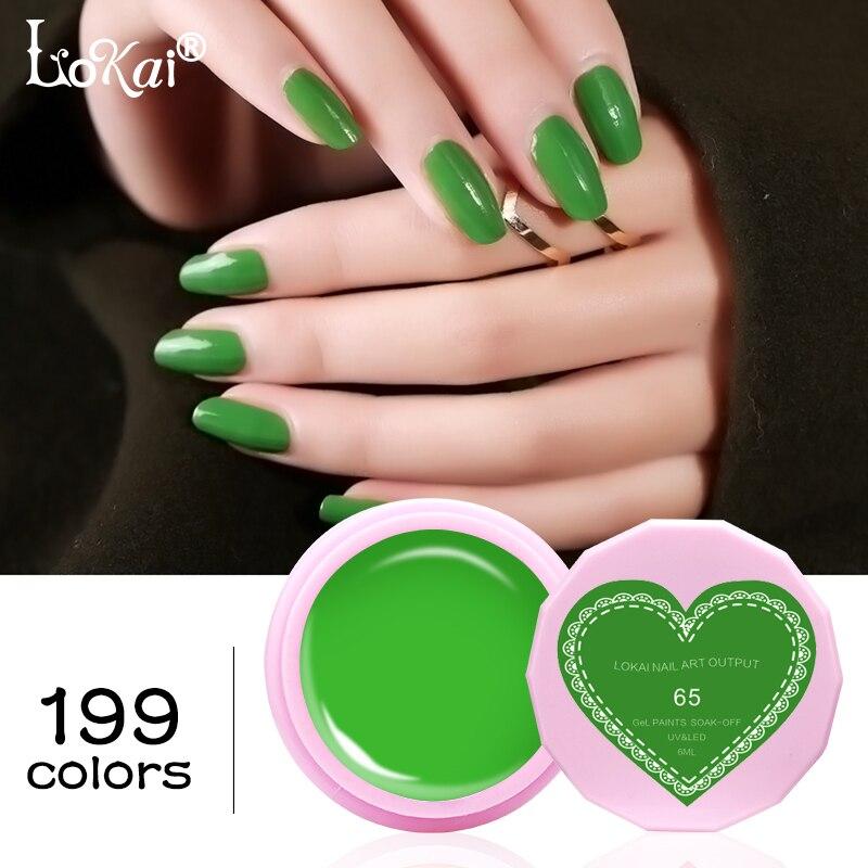 Lokai 6 ml UV Gel esmalte de uñas UV LED Gel de uñas Color verde ...