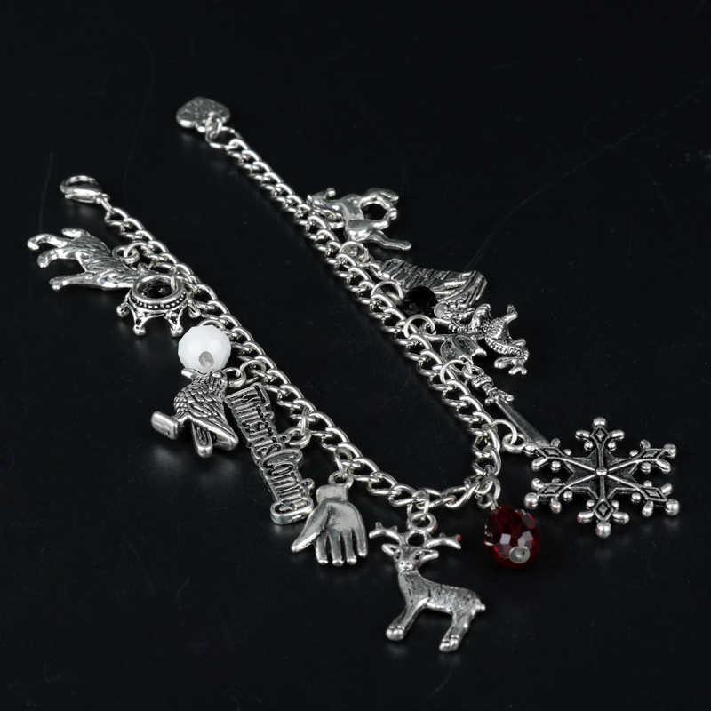 Gra o tron bransoletki dla kobiet zima nadchodzi łańcuszek z wisiorkiem bransoletki Wristabands akcesoria kobiece