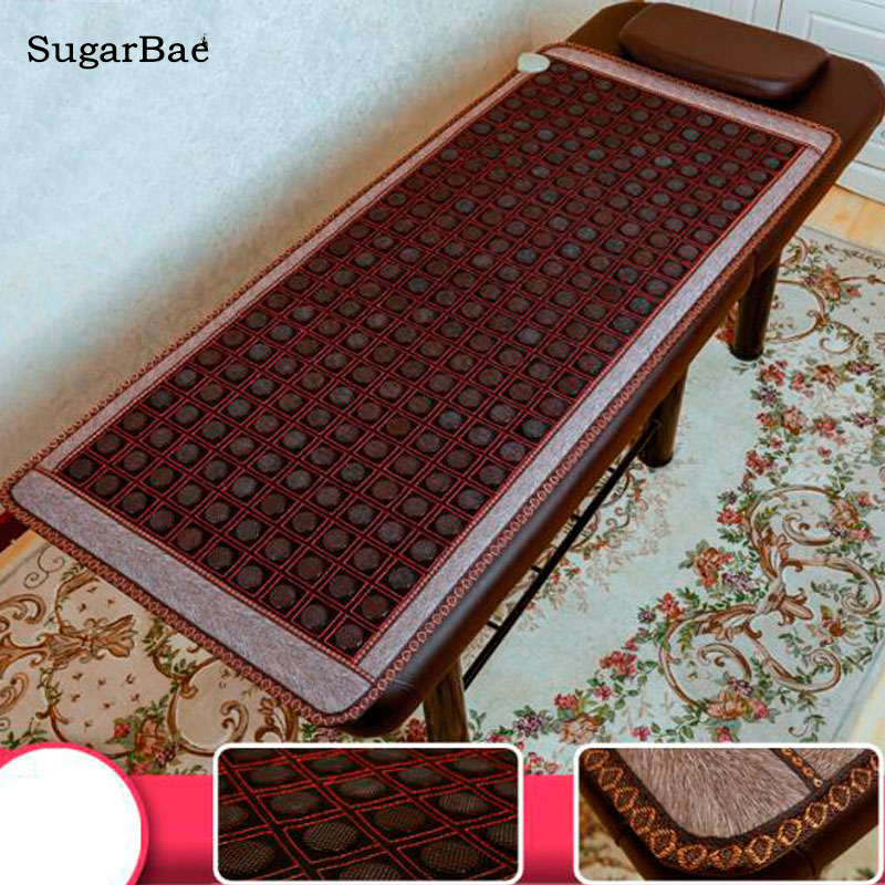 Korea Health Sofa Mattress Jade Tourmaline Germanium Electric Heating Pad Thermal Stone Mat Mattress 2016 electric heating massage jade stone mattress korean mattress wholesaler 1 2x1 9m