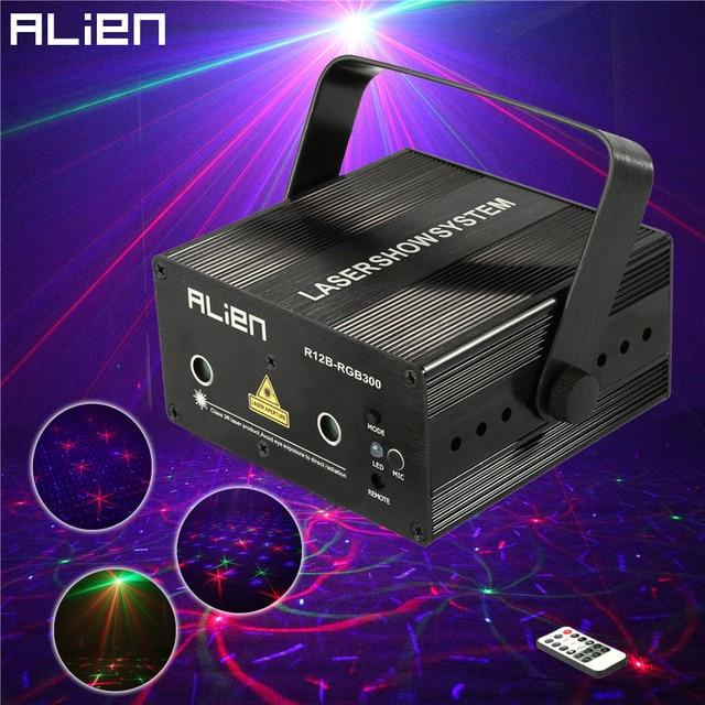 ALIEN Mini 300 mw Remote Laser Podiumverlichting Effect Rood Groen ...