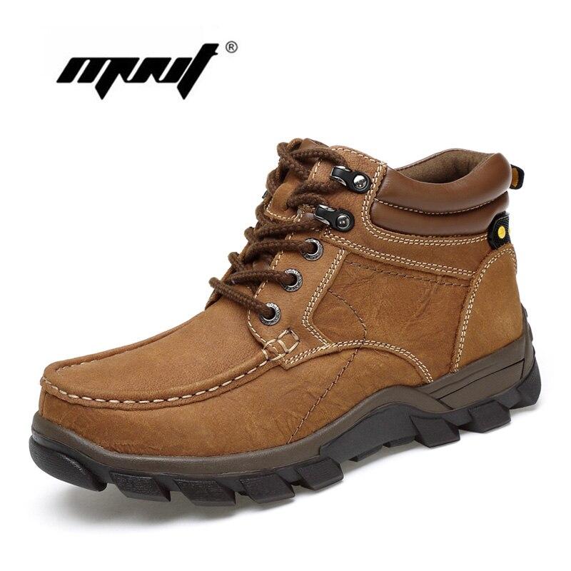 Ayakk.'ten Basic Çizmeler'de Artı Boyutu Açık Erkekler Kış Çizmeler sıcak Rahat Retro Ayak Bileği Kar Botları El Yapımı Doğal deri erkek ayakkabısı Dropshipping'da  Grup 1