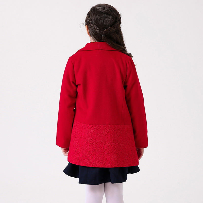 830f7de6f3c Girls Coat Winter Cashmere Red Jacket For girls Brand Wool Coat Girl  Princess Coat Children's Clothes 2017 Woolen Outerwear -in Wool & Blends  from Mother ...