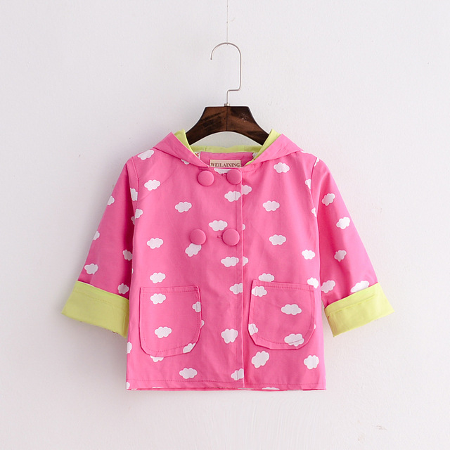 Infant's Clothing  Korean Cotton Toddler Windbreaker  Wholesale Clouds New Styles Baby Girls Jacket