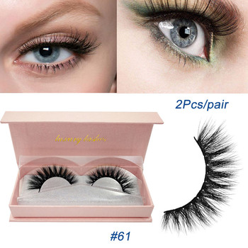 Beauty Makeup Fake Eyelashes Natural Cross Long 100% Handmade Real 3D Fur Eye Lashes Extension False Eyelashes Box Cosmetic New Beauty Essentials