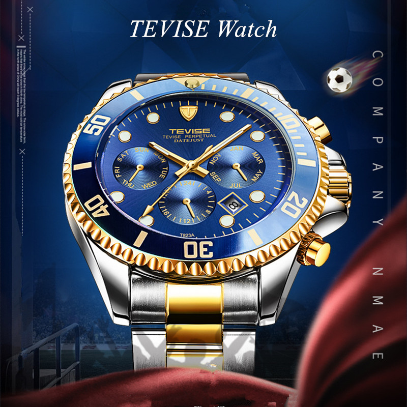 Tevise quente relógio masculino relógio mecânico automático
