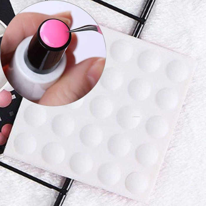 1pc silicone nail gel bottle label nail polish mark color tape nail art  button strip manicure fb4889adf8e3