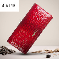 Brand Womens Wallets Genuine Leather Purse Long Coin Purses Holders Lady Purse Female Wallets TGS187