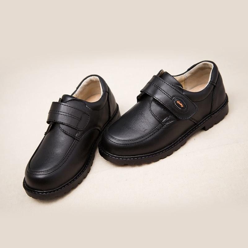 1362 13 De Descuentoacthink New Kids Zapatos De Vestir De Boda De Cuero Genuino Para Niños Marca Zapatos Negros De Boda Para Niños Zapatillas De