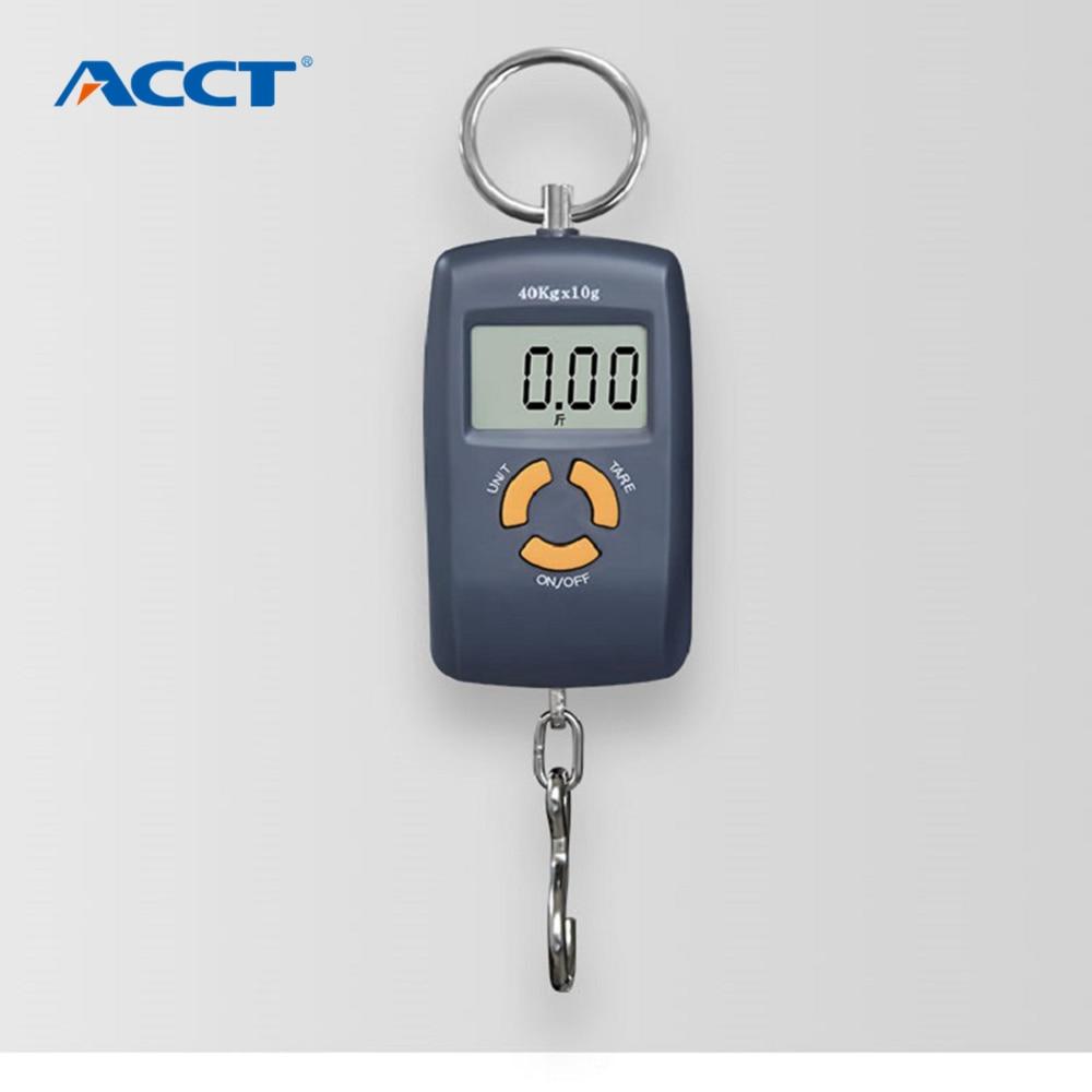 40 x 10 g-os mini hordozható elektronikus mérleg súlyú halászati poggyász mérleg digitális utazási lógó horog mérleg nem világít