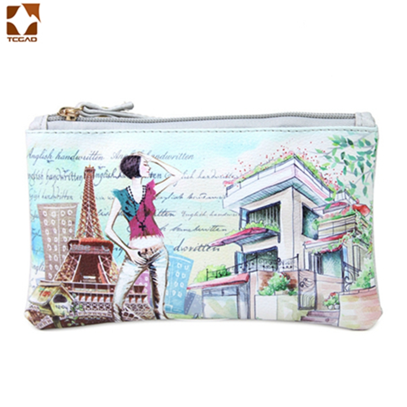 Luggage & Bags Coin Purses & Holders 2018 Fashion Vintage 3d Owl Paris Tower Big Ben Pattern Print Purse Woman Burse Zipper Cosmetic Bag Mobile Phone Bag Notecase