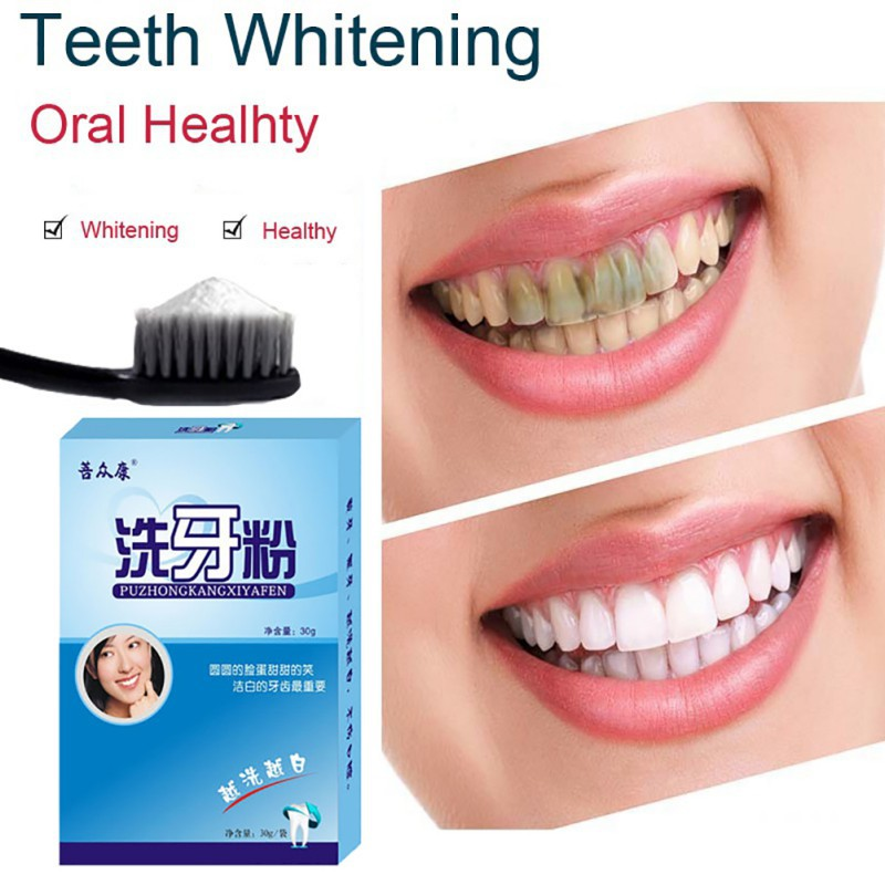 30g Oral Hygiene Teeth Whitening Powder Pearl Tooth Physical Tooth Whitener Dental dentista dental blanchiment des dents