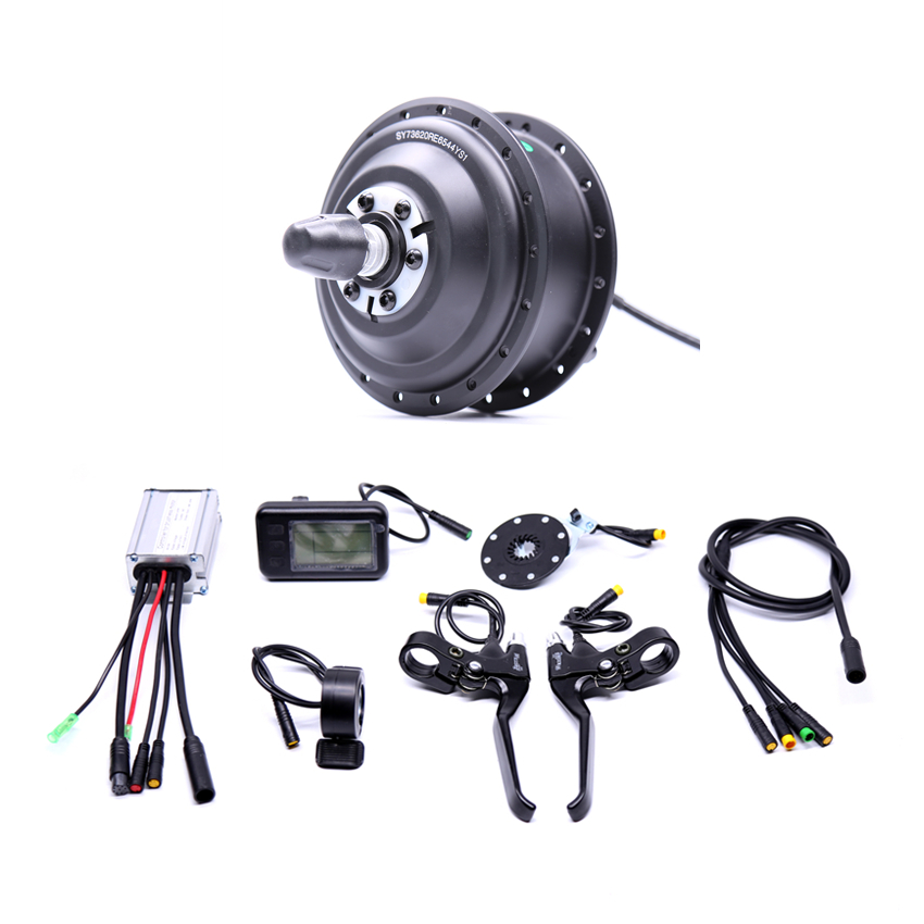 Waterproof Electric 36v350w Front/rear Electric Bike Conversion Kit Brushless Hub Motors with ebike system 24v 500w electric mountain bike powerful brushless gearless hub motor 26 rear wheel electric bike conversion kit with lcd meter