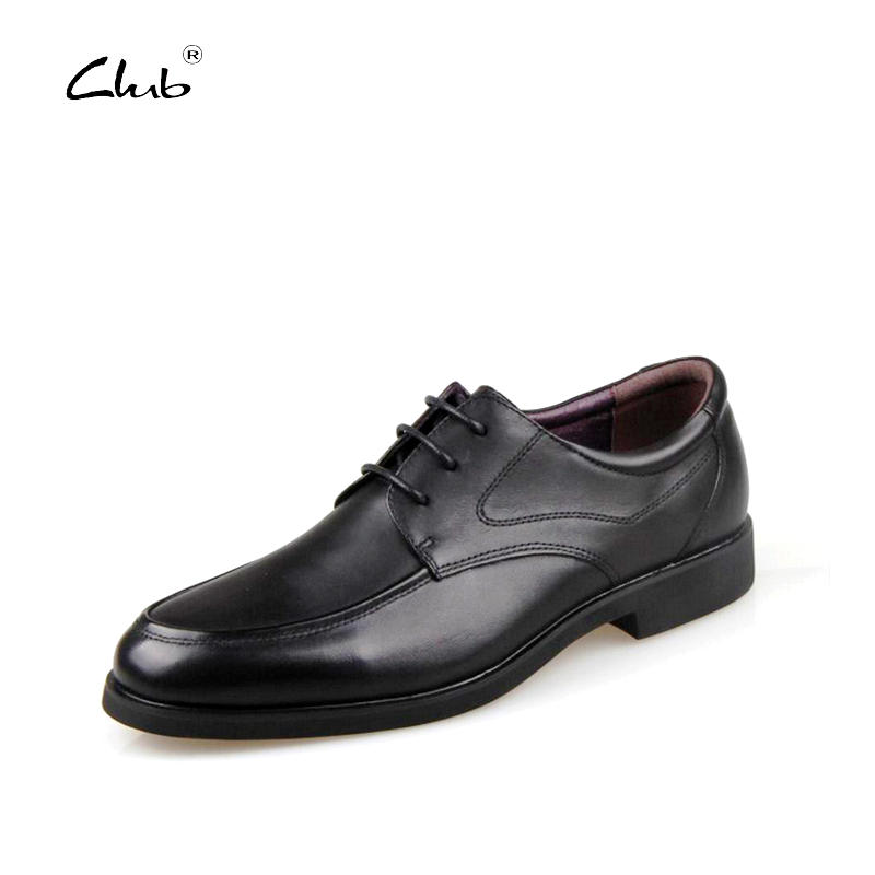 Club Mens Italian Leather Shoes Fashion Men Leather Flats Shoes Mens Dress Round Toe Lace-up Oxfords Men Business Shoes Casual