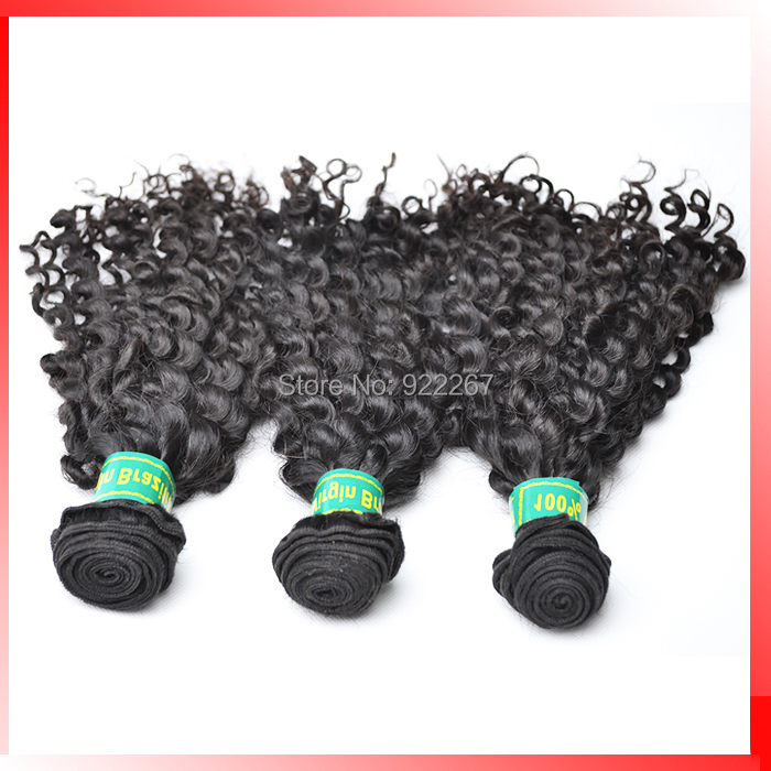 kinky curly lot brazilian hair extension, natural color machine weft Mix length - vivo products Co., Ltd. store
