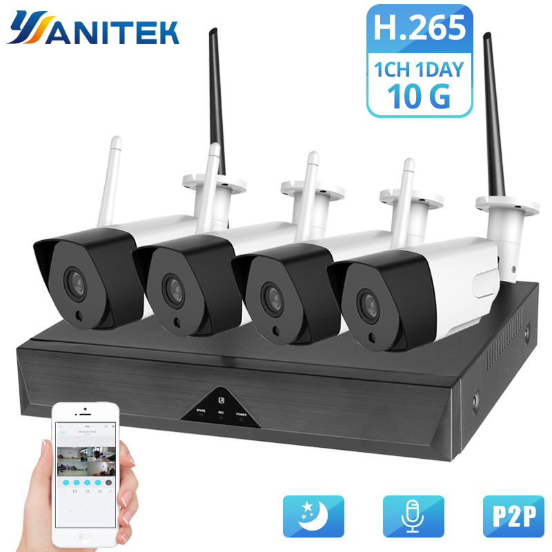 CCTV System Wireless Camera Home Security 1080P HD H.265 Outdoor Waterproof Wifi IP Cam NVR P2P Video Surveillance KitCCTV System Wireless Camera Home Security 1080P HD H.265 Outdoor Waterproof Wifi IP Cam NVR P2P Video Surveillance Kit