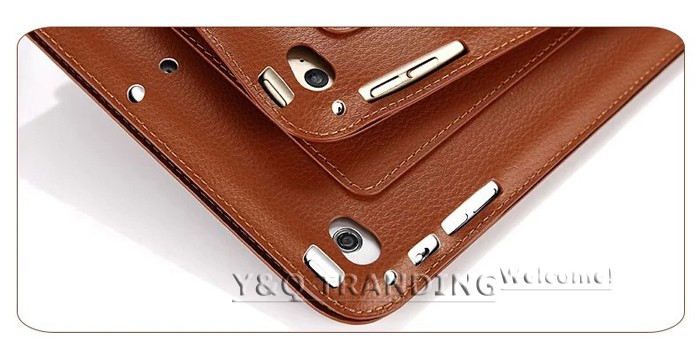 Ultrathin Cowhide Genuine Leather Case for Apple iPad Real Leather Business Stand Smart Cover for iPad  (19)