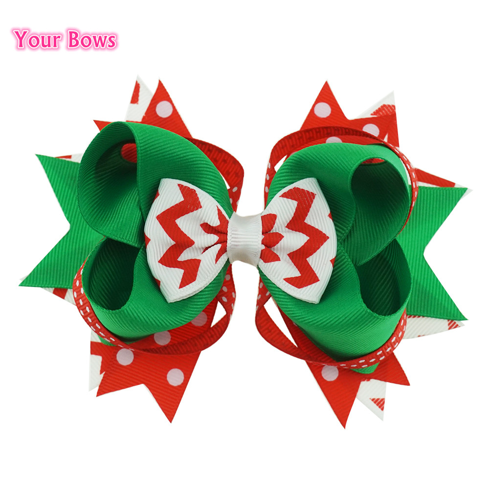 Your Bows 1PC 5,5 inch Christmas Gift Fastion Haarelastiekjes Dot - Kledingaccessoires