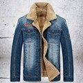 2015 Hot high quality men's casual jacket denim jacket warm coat free shipping