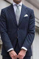 В полоску Для мужчин s куртка и пальто Темно синие узор Нарядные Костюмы для свадьбы для Для мужчин Slim Fit деловой Блейзер Masculino пользовательс
