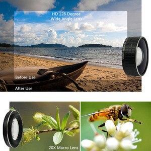 Image 3 - Lente Macro de doble cámara 2 en 1, lente Macro de 20X para cámara de teléfono móvil y lente gran angular HD de 128 grados para iPhone 7 Plus X 8