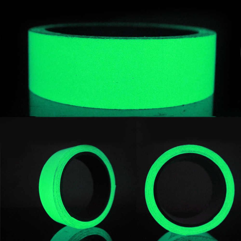 5M Glow Fluorescent Luminous Dinding Tangga Stiker Self-Perekat Peringatan Garis Menyala Dalam Gelap Darurat Malam Keselamatan tape