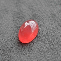 Wholesale Women Femme Fashion Genuine Natural Natural Ice Rose Rhodochrosite Gems Stone Crystal Cabochon Bead For Ring 7*6*3.5mm