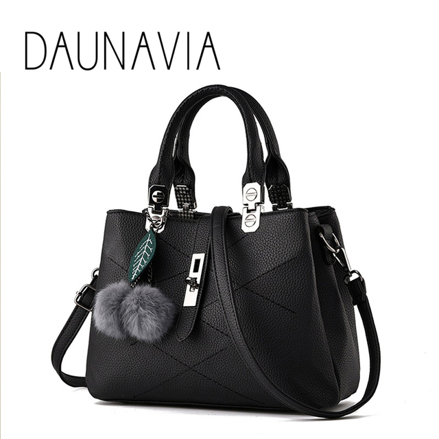 Daunavia Brand Women Bag High Quality Pu Leather Tote Name Las Handbag Lady Evening