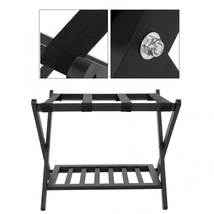 Деревянный двойной яруса складной багаж чемодан обувь стойка держатель Органайзер Домашний отель инструмент