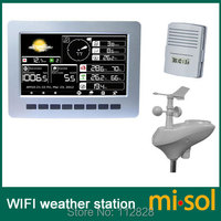Misol/Метеостанция WIFI с солнечной батареей датчик беспроводной передачи данных загрузки хранения данных
