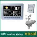 Misol/WIFI estação meteorológica com armazenamento de dados upload de dados de sensores sem fio movido a energia solar