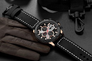 Image 3 - Watch Men Sports Chronograph Quartz Wrist Watches Hot Fashion Brand CURREN Leather Relog Hombre Water Resistence With Calendar