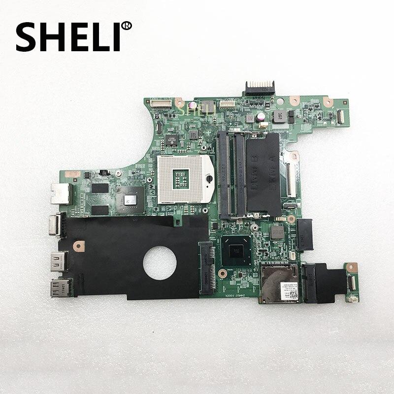 SHELI FOR DELL V3420 3420 V2420 2420 CN-0P7RC5 0P7RC5 P7RC5 Laptop Motherboard SLJ8F N13M-GS-A2 GPU DDR3 100%Testing Work