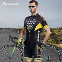 Santic Для мужчин Велонаборы RTS команды Джерси + нагрудник Шорты для женщин Pro Fit носить Велоспорт велосипед Гранада Наборы для ухода за кожей Од