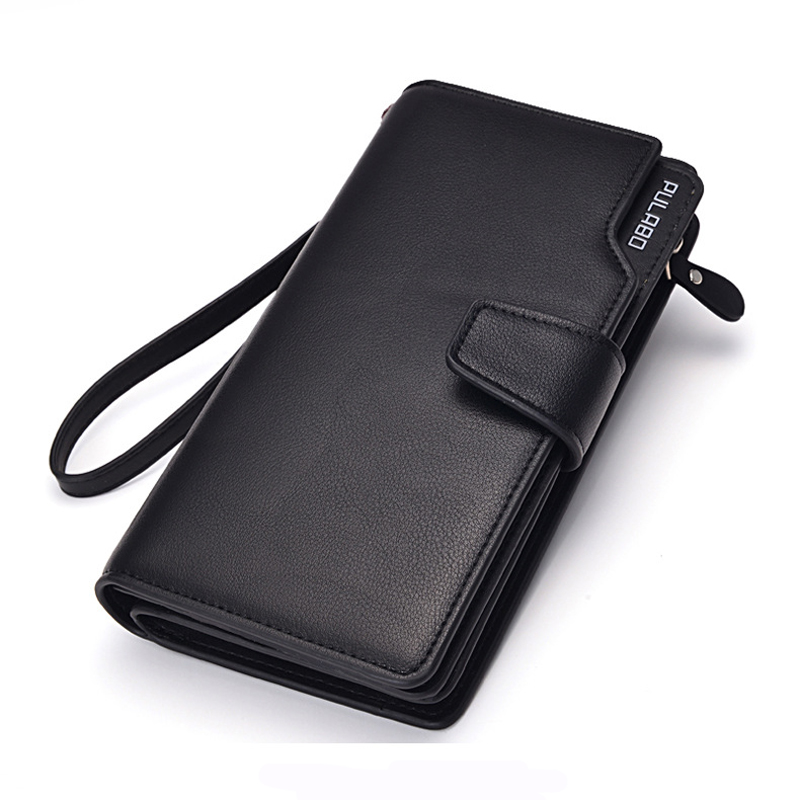 Ny lång stil Mäns läder plånböcker multifunktionsväska 24 kort hållare designer Koppling väska bra present till män