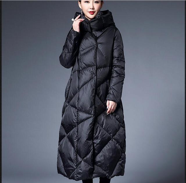 Aliexpress.com : Buy Bud Style Women Winter Down Coat Long Down ...
