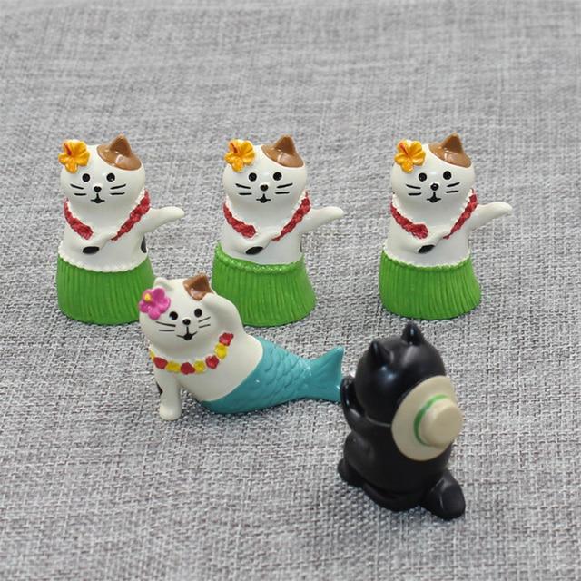 Zakka Decole Cat Dancing Camera Miniature figurines Home Decoration Mini Fairy Garden Resin craft toy gift Bonsai Ornaments