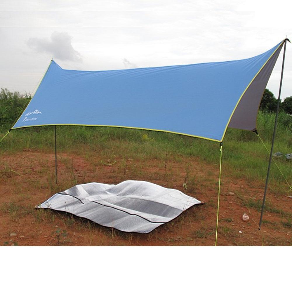Axeman 400*300cm Outdoor Camping Velarium Camping Hoothie Tarp Waterproof Ground Sheet Groundsheet For Camping Picnic starbaits kosy ground sheet