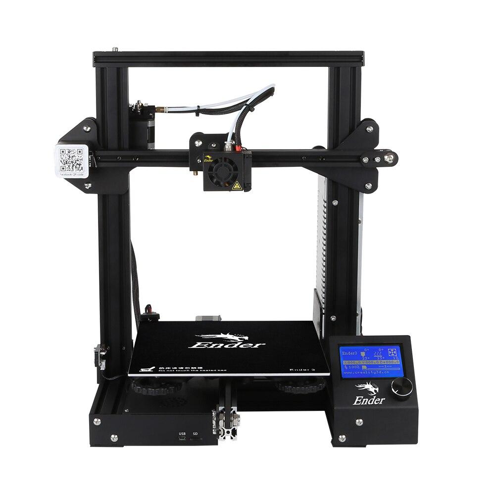 D'origine Creality 3D Ender-3 V-Slot Prusa I3 DIY 3D Imprimante Kit 220*220*250mm Avec MK10 Extrudeuse 1.75mm 0.4mm Buse 3D Imprimante