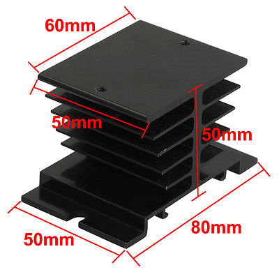 Aluminum Heat Sink for Solid State Relay SSR Small Size Heat Dissipation 10A-40A 25a ac 380v solid state relay voltage resistance regulator w aluminum heat sink