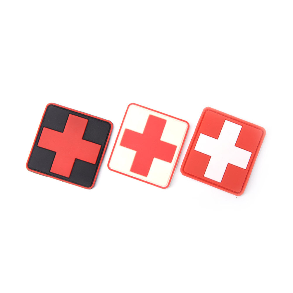 New 3d Pvc Rubber Medic Paramedic Red Cross Flag Of Switzerland Swiss Cross Patch Backpack Tactical Army Morale Badge Patches Entertainment Memorabilia Rock & Pop